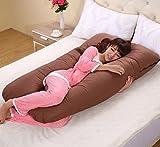 Meiz 両面 多機能 妊婦抱き枕 妊婦枕 横寝 哺乳 U型妊婦枕 (ブラウン) ランキングお取り寄せ