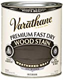 Rust-Oleum 269394 Varathane Premium Fast Dry Wood Stain, 32-Ounce, Weathered Gray