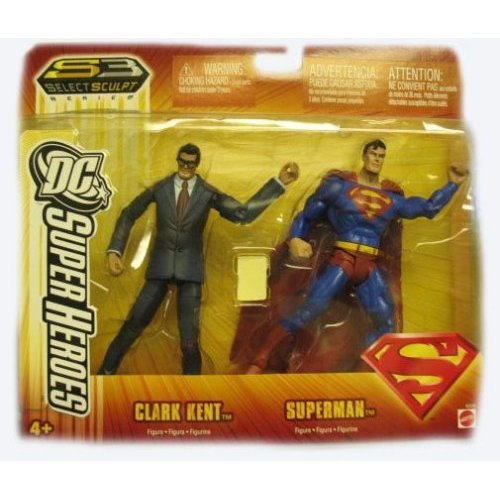DC super heroes CLARK KENT & SUPERMAN 2 pack target stores exclusive universe select sculpt