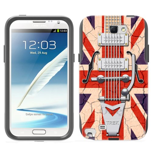 Otterbox Commuter Retro Electric Guitar With Union Jack Flag Case For Samsung Galaxy Note 2