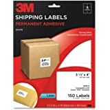 3M Permanent Adhesive Shipping Labels, 3.33 x 4 Inches, Laser, White, 150 per Pack (3100-X)