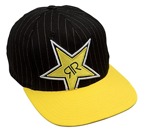 2defa8e19dc Rockstar Energy Drink Men s One Industries Thompson Snapback Hat Cap - Black