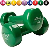Physionics� HSTA25 Vinyl Dumbbells COLOUR CHOICE AND CHOICE OF WEIGHT (dark green)by Physionics�