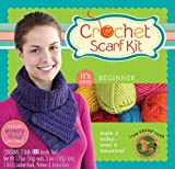 Lion Brand Yarn Beginner Crochet Scarf Kit, Purple