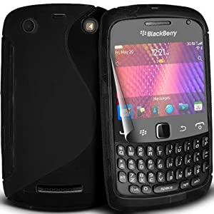 Accessories Online - Black Gel Skin Case / Cover / Shell for Blackberry Curve 9360