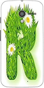 Snoogg Vector Grass Letter Designer Protective Back Case Cover For Motorola X...