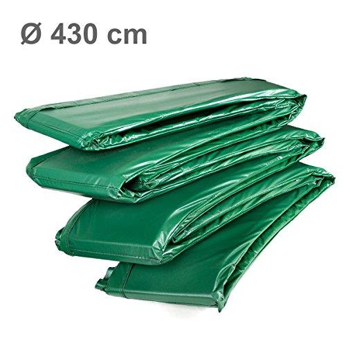 Ampel 24 Trampolin Randabdeckung Deluxe | max. Schutz durch doppelte Dicke | passend für Ø 427 - 430 cm | reißfest | 100% UV-beständig | grün