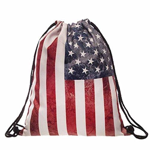 Egmy2016-Women-Men-American-Flag-Printed-Drawstring-Pouch-Backpack-Shoulder-Bag