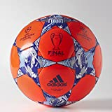adidas Performance Finale Berlin Capitano Soccer Ball, Solar Red/Night Flash Purple/White, Size 3