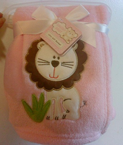 Snugly Baby Embroidered Girl Blanket Pink Lion - 1