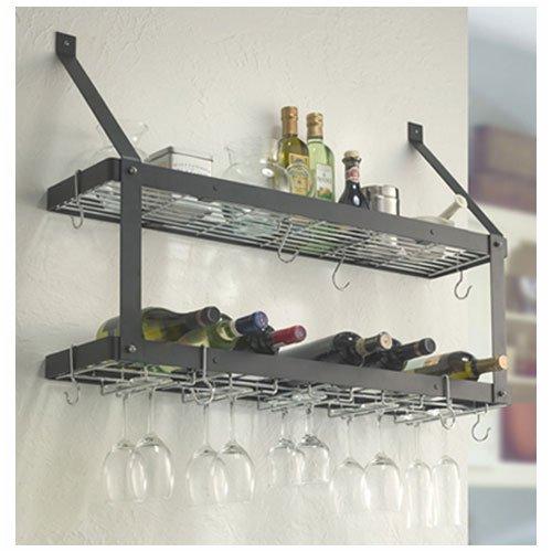 estate wine stemware rack double shelf by rogar. Black Bedroom Furniture Sets. Home Design Ideas