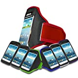 Red Sports Jogging Armband Case Cover Comfortable Holder Soft Gym Adjustable Running For Motorola MOTO G 8GB XT1032 (XL) Mobile Cellular Phone