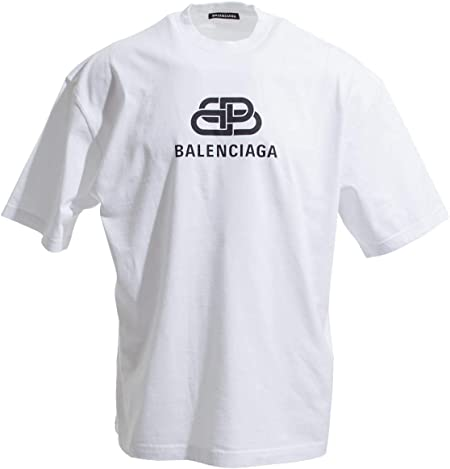 BALENCIAGA(バレンシアガ) (バレンシアガ) BALENCIAGA クルーネック Tシャツ Mサイズ BB OVERSIZE SHIRT オーバーサイズ シャツ [並行輸入品]