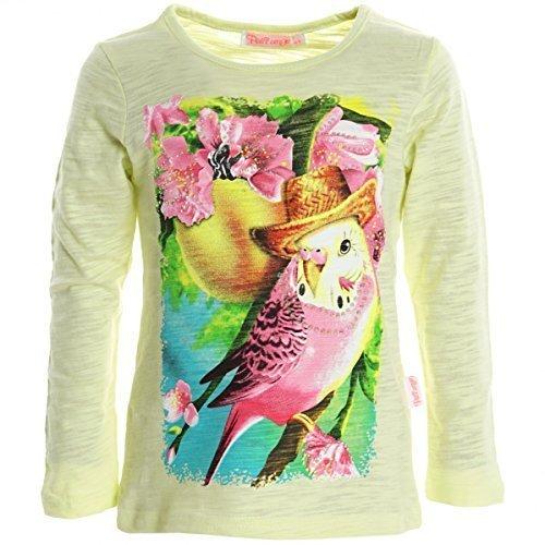 Camicetta Ragazza Maglietta Pullover Maglia A Maniche Lunghe Felpa T-Shirt 20295 - cotone, giallo, 100% cotone 100% cotone, Bimba, 6 Anni / 116