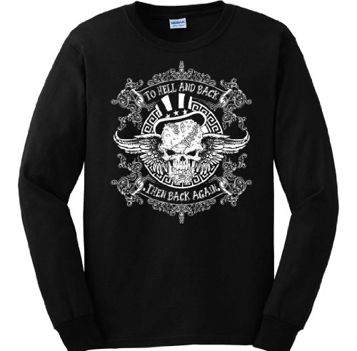 To Hell And Back. Then Back Again. Long Sleeve. : Men'S 4X-Large Black