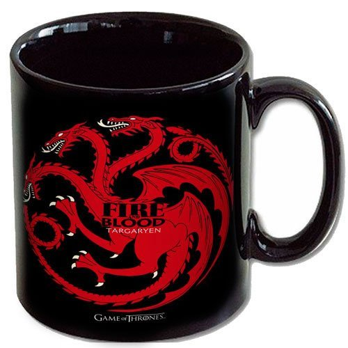 Game Of Thrones Mug - Tazza Ceramica Targary Fire & Blood George R. R. Martin