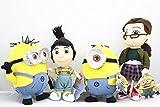 Despicable Me Movie Stewart and Dave Minion Margo Agnes Mini Plush Doll Toys set of 4