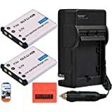 Pack Of 2 LI-42B Batteries And Battery Charger for Olympus Stylus 1040 1050w 1060 1070 1200 7000 7010 7020 7030 7040 Tough 3000 TG-310 TG-320 VR310 VR320 VR330 Digital Camera + More!!