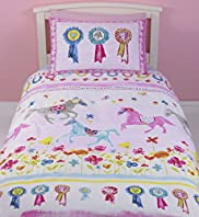 Painted Horses & Floral Bedset