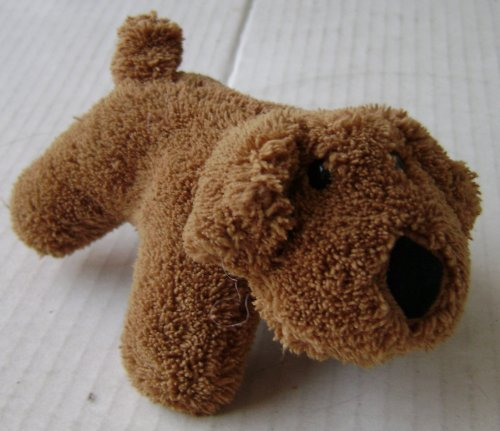 Brown Dog Plush Toy Stuffed Animal - 5 inches long x 3 inches tall