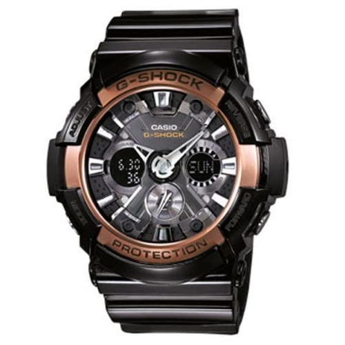 Casio Men's Watch XL G-Shock Style Series Chronograph Quartz Resin GA - 200RG - 1AER