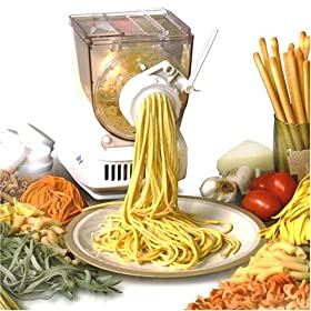 Automatic Popeil Pasta Maker Machine with Additional Sausage Maker Attachment