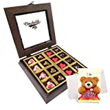 Choco Delights Heart Chocolates With Sorry Card - Chocholik Belgium Chocolates