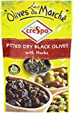 Crespo Olives Du March?? Pitted Dry Black Olives with Herbs 70 g (Pack of 6)