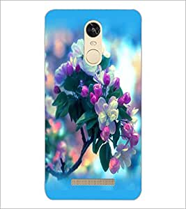 PrintDhaba Flowers D-2255 Back Case Cover for XIAOMI REDMI NOTE 3 (Multi-Coloured)