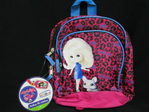 Littlest PET Shop~blythe~mini Back Pack~ New~pet Vacation Collection~10 Inches(pink and Blue)