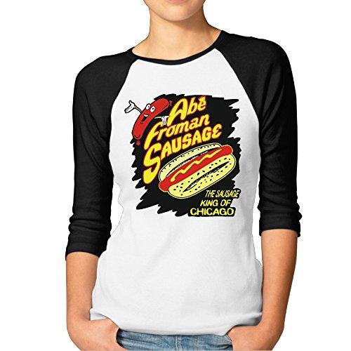 [Women's Abe Froman Sausage King Of Chicago Baseball Jerseys Raglan Shirts] (Abe Froman Costume)
