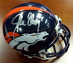 John Elway Autographed Hand Signed Denver Broncos Mini Helmet PSA DNA #W12305 by Hall of Fame Memorabilia