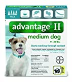 Advantage 4 Pk. Dog Teal 11-21 Lbs.