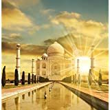 ArtzFolio Taj Mahal Palace - Medium Size 21.3 Inch X 21.8 Inch - FRAMED PREMIUM CANVAS Wall Artwork Digital PRINT...