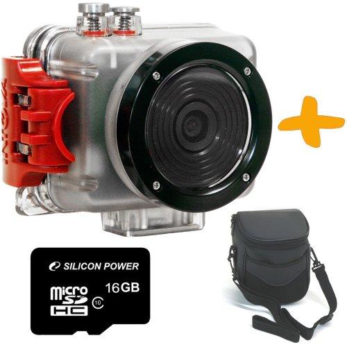 Intova Sport Pro HD II Action Camera + 16GB + Case Bundle. 1080P Full HD Extreme Sport & Underwater Videos Black Friday & Cyber Monday 2014
