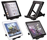 ITALKonline Portable Desktop Table Stand Holder (Vertical/Portrait) for Motorola XOOM 2 Media Edition MZ607