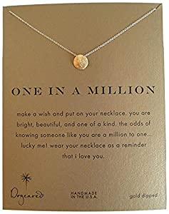 dogeared one in a million sand dollar gold