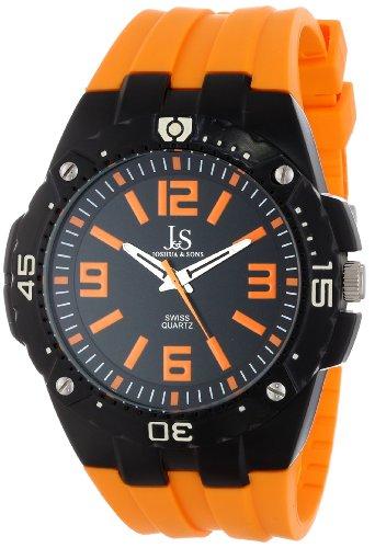 Joshua & Sons Hombre Bold Reloj de correa de silicona de cuarzo suizo