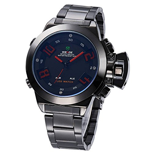 Kano Bak Special 30 Meters Waterproofed Stainless Steel Gift Men Mens Casual Business Sport Military Quartz Wrist Watch Watches Red Word Kb1008