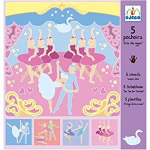 DJECO Stencil Set - Swan Lake