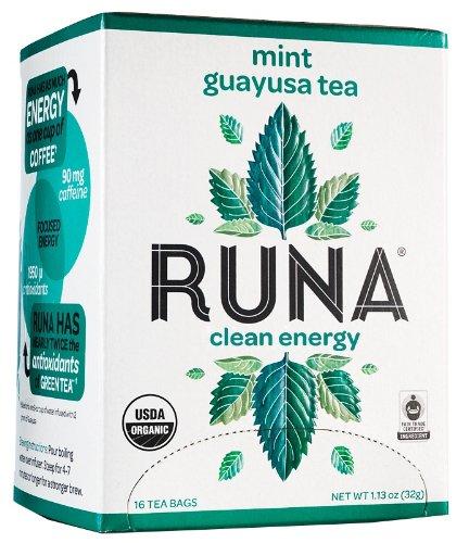 Runa Amazon Guayusa Tea Box, Mint, 16 Tea Bags, 1.13 Ounce