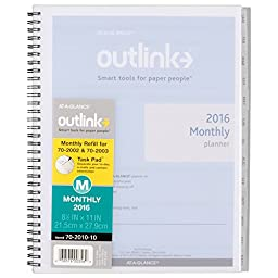 AT-A-GLANCE Monthly 2016 Refill for 70-2002, 70-2003, Outlink, 8-1/2 x 11 Inches (70-2010-10)