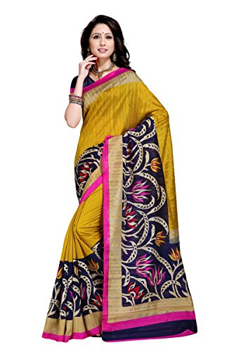Samskruti Sarees Women's Abstract design Art Silk Saree(3018)