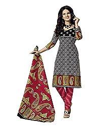 GoAavaran Women's Cotton Unstitched Salwar Suit