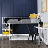 WE Furniture Twin Loft Bed with Desk…