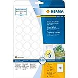 Herma 4387 Etiketten weiß Ø30 mm rund Movables/ablösbar Papier matt 1200 Stück weiß