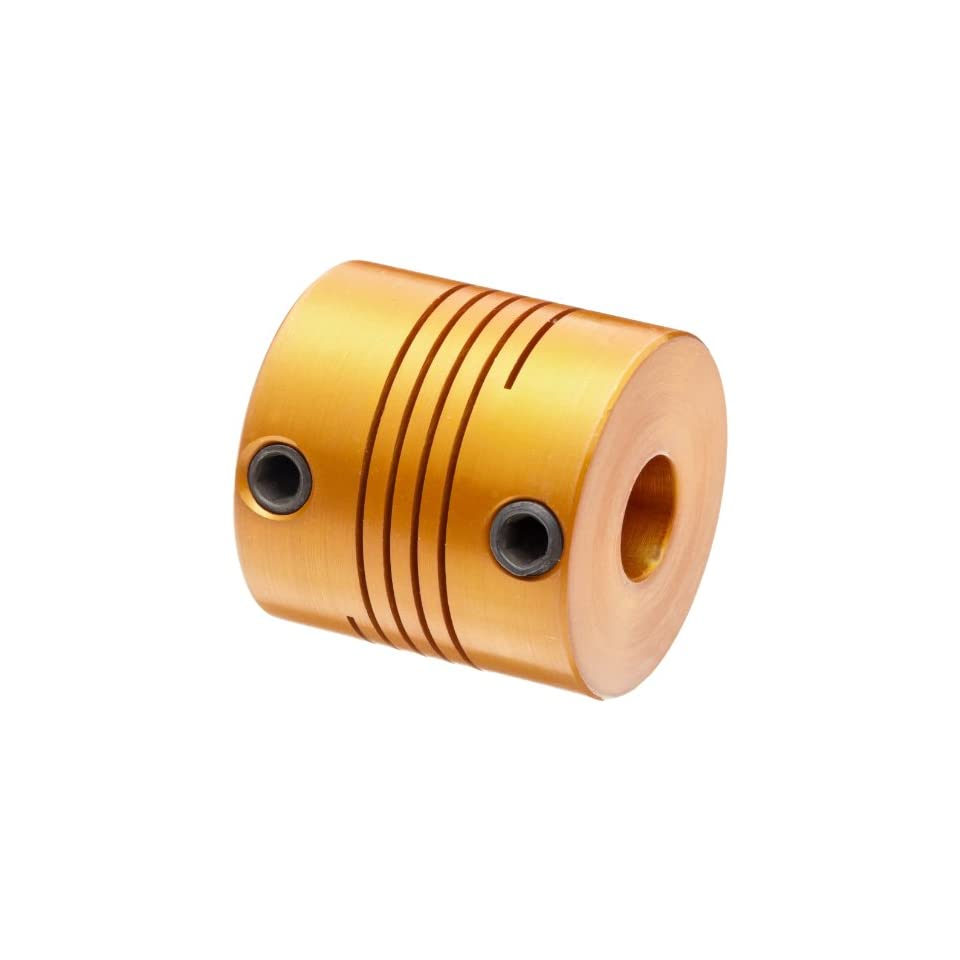 Clamp-On Beam Shaft Coupling 38 mm Length Single Beam Anodized Aluminum Lovejoy EC112-12MM X 12MM 28 mm OD