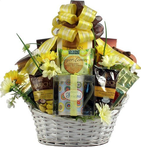 Gift Basket Village Just For You Gift Basket With Ceramic Friend Mug
