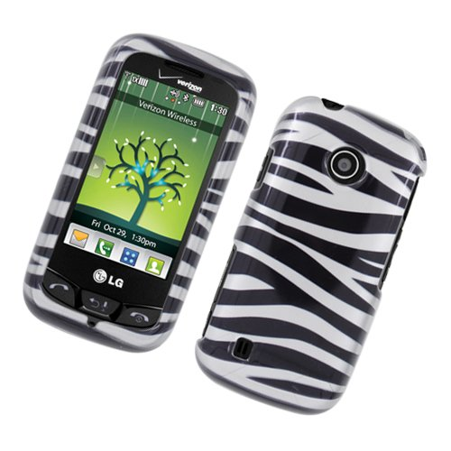 Cell Accessories For Less (Tm) Lg Lg Beacon Un270/Mn270/Vn270 Cosmos Touch Glossy 2D Case Zebrablack White 128 - By Thetargetbuys