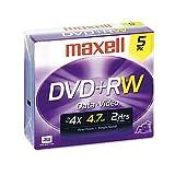 Maxell 4.7GB 4x DVD plus R 5-Pack